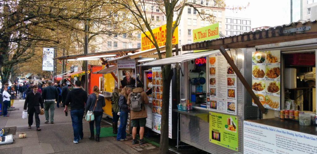 A photo of the foodcarts from 2015